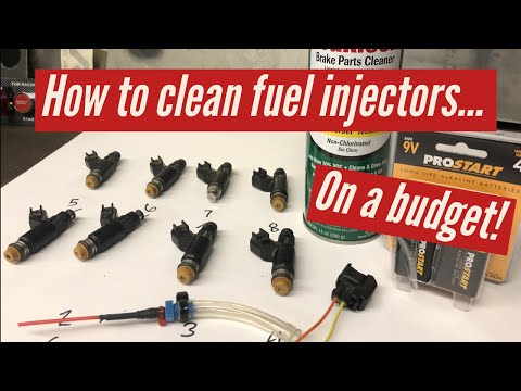 How to clean fuel injectors on a budget.