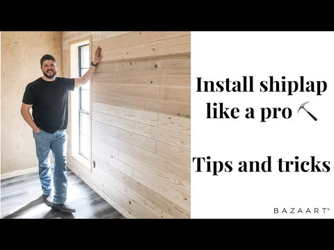HOW TO INSTALL SHIPLAP WALL: TIPS & TRICKS