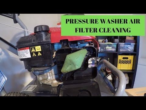 Pressure Washer Air Filter Cleaning