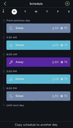 Ecobee Schedule