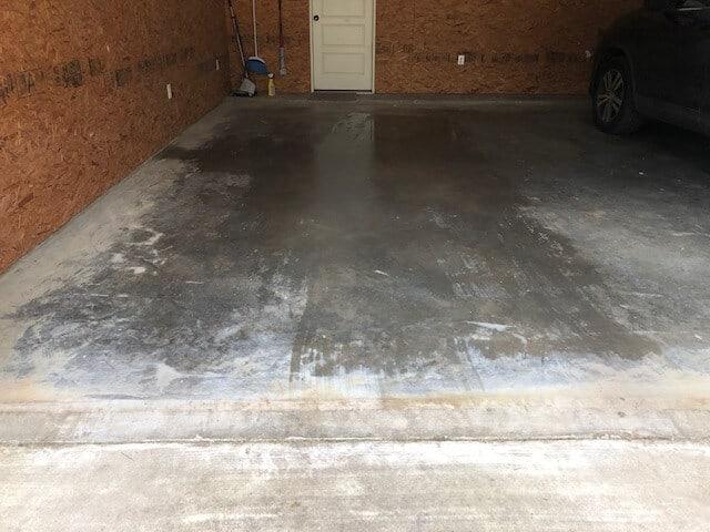condensation on garage floor