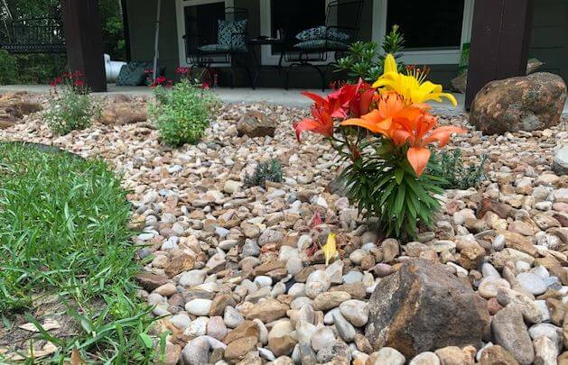 flower bed drainage