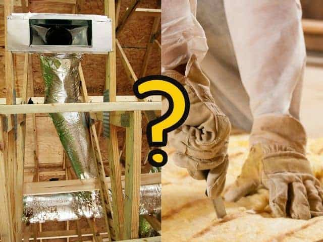 Should fiberglass insulation touch ductwork?