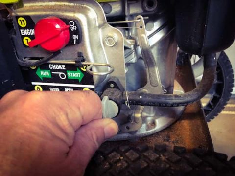 Turn off fuel valve before disconnecting fuel line.