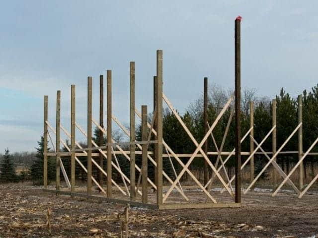 Pole barn posts spacing.