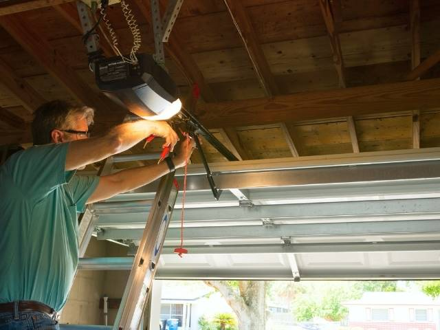How to stop a garage door from rattling when the wind blows.