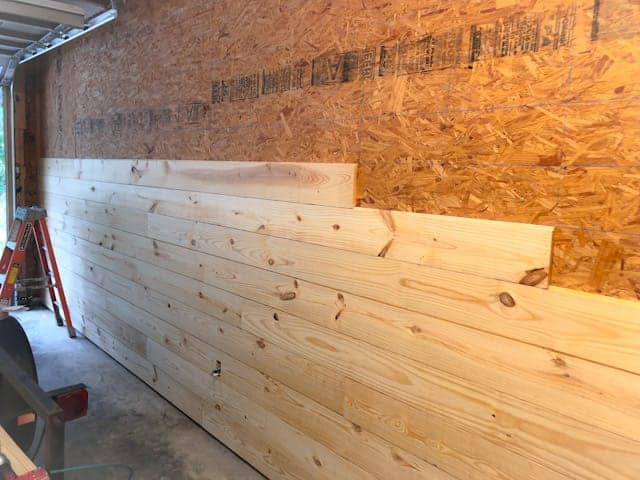 How to install tongue and groove walls over OSB
