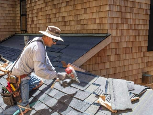 Should roofing nails penetrate through the sheathing?