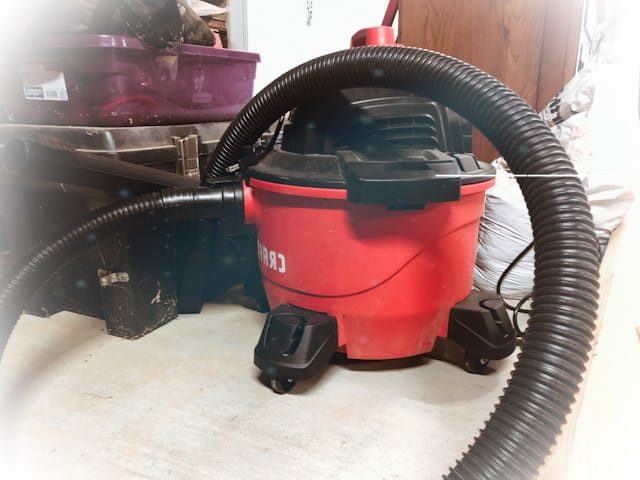 What size shop vac is needed?